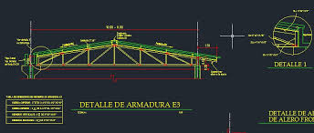 autocad metail roof truss model with details drawing file