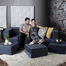 amazon com jaxx zipline convertible sleeper sofa u0026 three ottomans