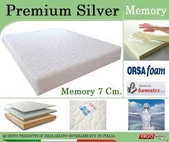 materasso memory silver materasso memory mod premium silver matrimoniale 160x190 zone