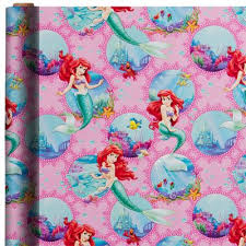 doc mcstuffins wrapping paper mermaid gift wrap 8ft party city