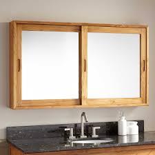 Wood Medicine Cabinet No Mirror Bathroom Medicine Cabinets Signature Hardware
