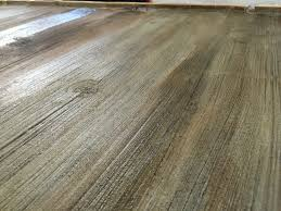 stained concrete floors that look like barn wood to get the color