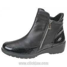 Comfortable Wide Womens Shoes Shop Comfort Casuals Waldlaufer Comfortable Black Zip Fastening