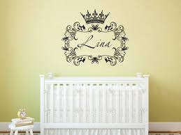Custom Wall Decals For Nursery Crown Princess Frame Custom Wall Decals Personalized Name