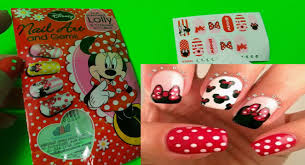 how to use new disney minnie mouse nail art and gems set youtube