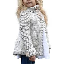 Sweater Toddler Sunbona Toddler Baby Autumn Button Knitted