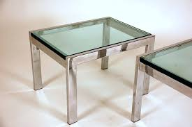 Chrome And Glass Coffee Table Side Table Chrome Frosted Glass Side Table Clear Glass And