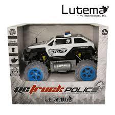 monster jam remote control trucks lutema police suv 4ch remote control truck black u0026 white ebay