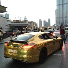porsche gold gold chrome porsche panamera madwhips