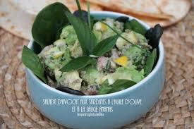 sauge en cuisine salade d avocat aux sardines à l huile d olive et à la sauge ananas
