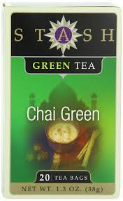 stash tea green chai tea 20 count tea bags in foil