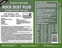 What Is Rock Dust For Gardens Rock Dust Fertiliser Certified Organic 20kg No Frills