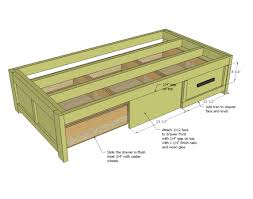 How To Make A Queen Size Bed Frame Bed Frames Twin Bed With Drawers Underneath Storage Bed Queen