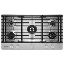 Gas Stainless Steel Cooktop Kitchenaid 36