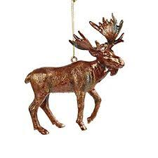 kurt adler 2 resin moose antler together w rope