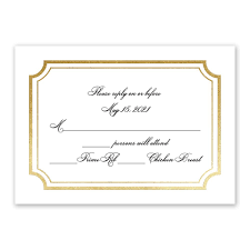 tradition reigns foil response card invitations by