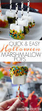 Easy To Make Halloween Snacks by Quick U0026 Easy Halloween Marshmallow Pops Shaken Together