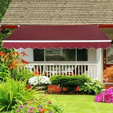 Triangle Awning Canopies Patio Awning Canopy Retractable Deck Door Outdoor Sun Shade