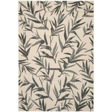 Bamboo Outdoor Rug 8 X 11 Gray Outdoor Rugs Rugs The Home Depot