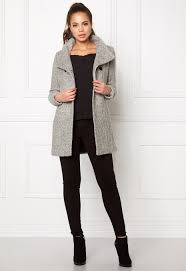 only new sophia wool coat light grey melange bubbleroom