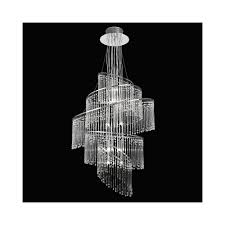 endon camille 24 light chrome u0026 glass chandelier endon from