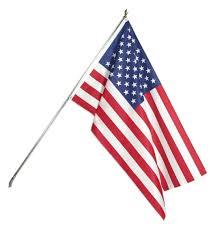 United States American Flag 3x5 American Flag Kit 6 U0027 Tin Plated Pole