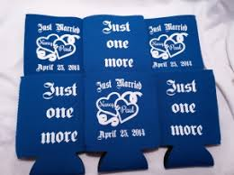 wedding koozie ideas personalized wedding koozie odyssey custom designs