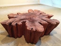 Redwood Coffee Table Redwood Live Edge Slab Coffee Table At 1stdibs Regarding Live Edge