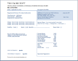 Car Wash Invoice Template by Truck Receipt Template Free Receipt Templates