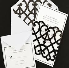 wedding invitations black and white wedding templates