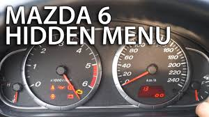 mazda 6 hidden menu test mode mr fix info