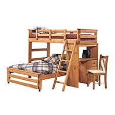 Amazoncom Twin Over Full LShaped Bunk Bed With Desk End - L shaped bunk beds twin over full