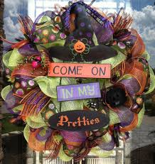 how to make a halloween wreath with mesh ribbon spooky halloween door wreaths designs decorating kopyok interior