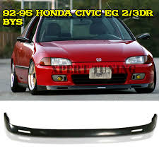 Backyard Special Eg For 92 95 Honda Civic Eg 2 3 Door Jdm Bys Front Bumper Lip Spoiler