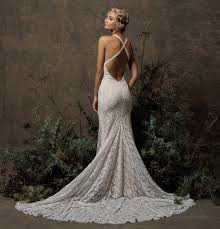 backless lace wedding dresses dita backless boho lace wedding dress dreamers and