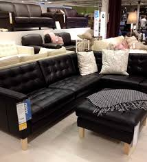 Ikea Sater Leather Sofa Dark Brown Leather Couch Fair Ikea Leather Sofa Home Design Ideas