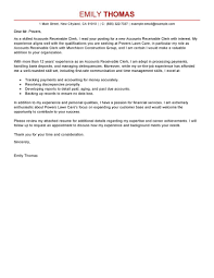 Proposal Cover Letter Template Best Accounts Receivable Clerk Cover Letter Examples Livecareer
