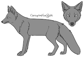 free fox line art 2014 by corruptedfox on deviantart