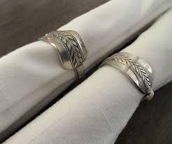 cool napkin holder tags wedding napkin ring ideas engagement
