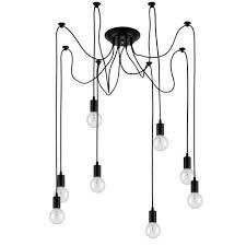 Edison Pendant Light Edison Pendant Light Chandelier 8 Pendants Bulbs Included Matte