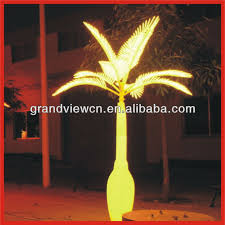 yellow colour for night led palm tree decoration lights tree