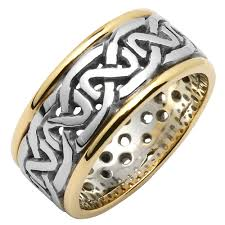 celtic knot ring wedding ring mens celtic knot pierced sheelin wedding band
