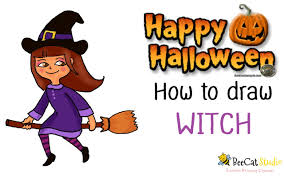 how to draw a cartoon witch youtube