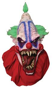 evil clown halloween mask big top scary clown mask in masks nightmarefactory com