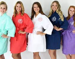 waffle robes for bridesmaids plus size robe etsy