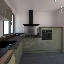 cuisine verte et grise cuisine blanche design meuble iris blanc brillant decoration