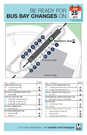 Wmata Metro Map by Bus Bay Reassignments Southern Ave Metrorail Station June 25 Wmata