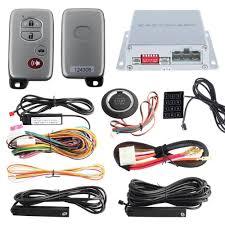 pke car alarm system remote engine starter function push button