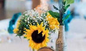 country centerpieces impressive sunflower wedding centerpieces low rustic vases for