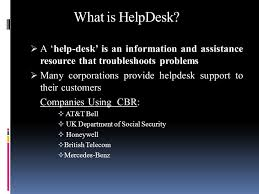 social security help desk help desk systems using casebased reasoning topics covered today